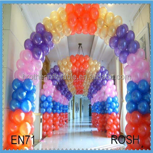 2015 Hot sale wire garden arch balloon ,orange balloon arch ,brige shape for sale