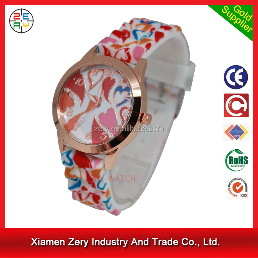 R0755 Vogue silicone strap women's elegance watch, fashion vogue watches ladies rubber