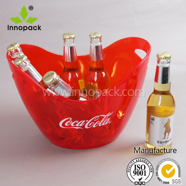 PS material , single or double layer plastic ice bucket for wine