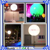 2015 hot sale high quality pvc balloon inflatable stand LED balloon with tripod for thanksgiving