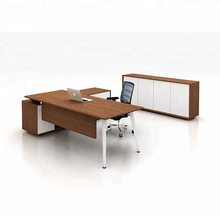 High quality steel frame standard size <strong>p</strong> shaped modern executive office table