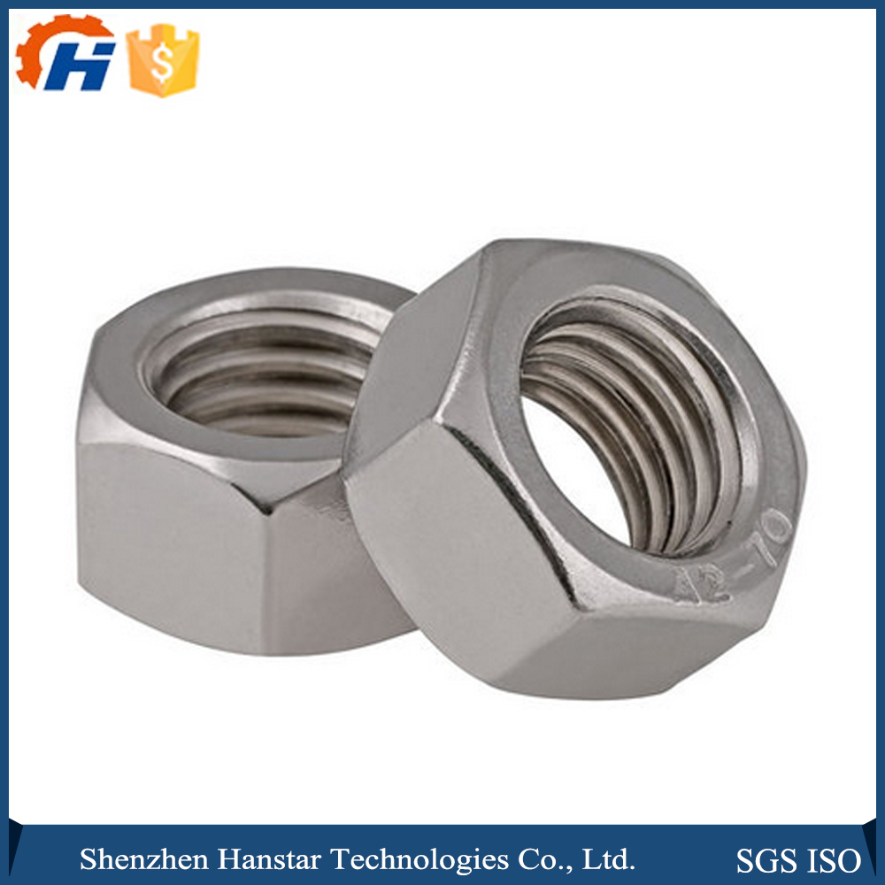 CNC Shenzhen trustworthy manufacturer professional 304 Stainless steel six-angles bolts and nuts