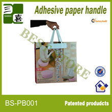 Carrying paper handle for bed sheets,bottle