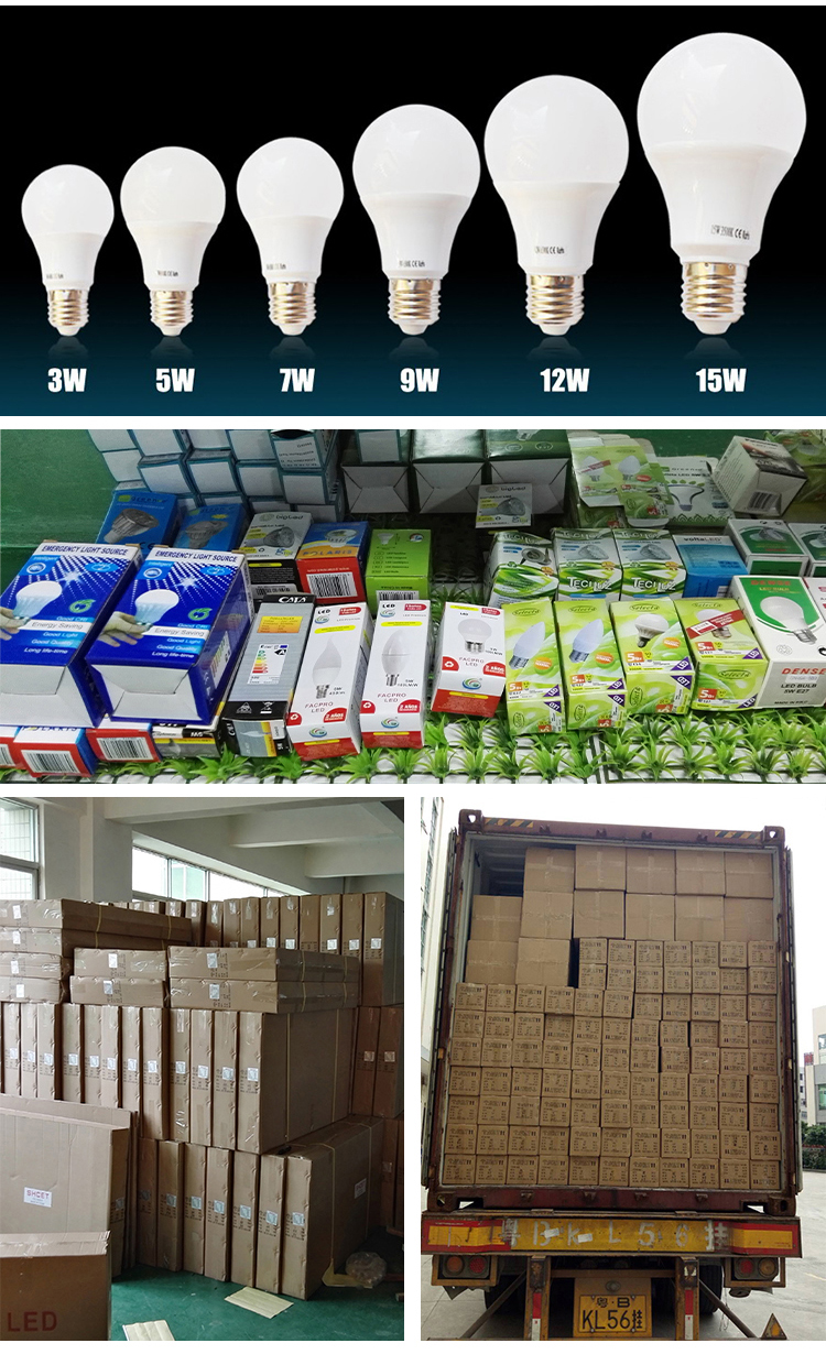 China Dimmable 220V 110V 12W 5W 7W 9W B22 E27 A60 Lamparas Led Lamp Light Electric Bulb