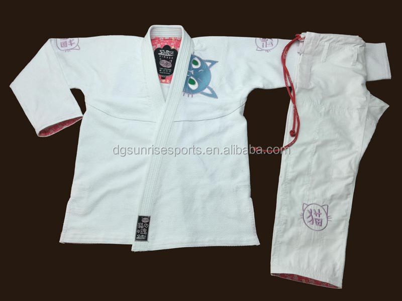 Custom-made Ladies BJJ Gi BrazilianJiu Jitsu Gi Uniform for Women White Girl's BJJ GI Kimono