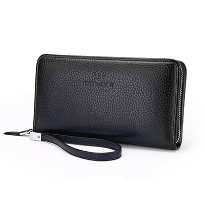 Men's New Business Long Luxury Brand Clutch Men Wallet Fashion Male Zipper Vintage Purses Leather Portemonne Portafogli Uomo