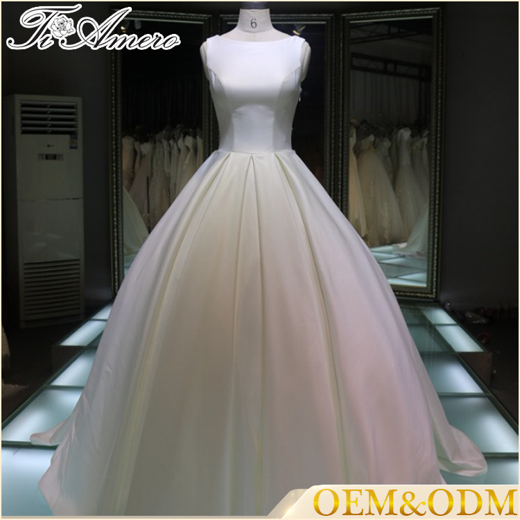 Most popular latest wedding gown designs white wedding bridal dresses sweetheart back