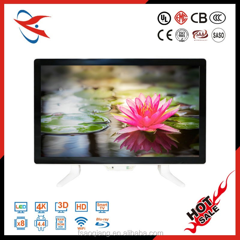12V DC full hd kmc tv with flat screen and solar panel