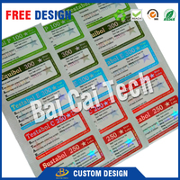 offer free design Quality Direct Factory hologram Custom 10ml Vials Labels, 10ml vials boxes