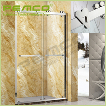 Modern Sliding stainless steel enclosed frameless tempered glass bathroom luxury shower room