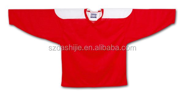 Customized sublimated red sportswear hockey jersey/uniforms/wears