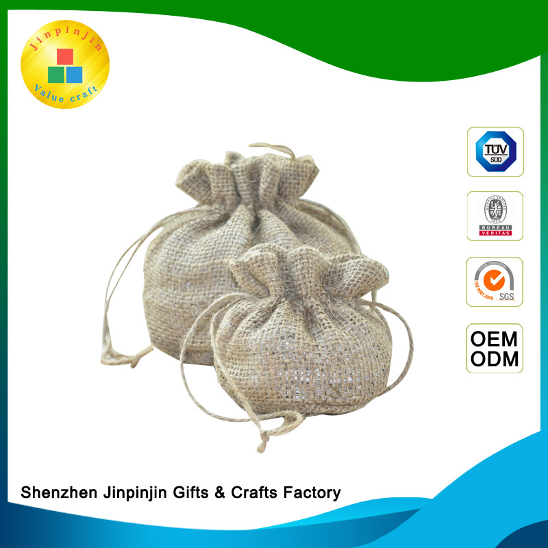 Eco-friendly drawstring clutch cocoa beans vietnam used coffee jute tote bag 100kg