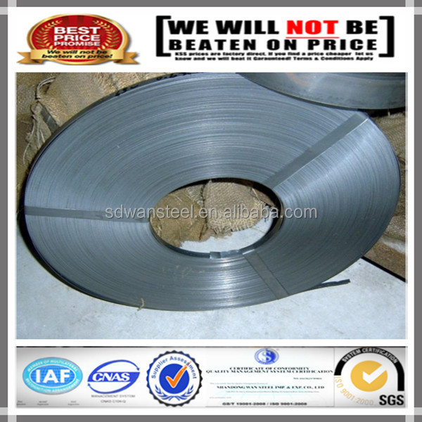 Color Cold Rolled Hardened and Tempered 65Mn Spring Steel Strip/S65C Steel Strapping Band for Saw Band