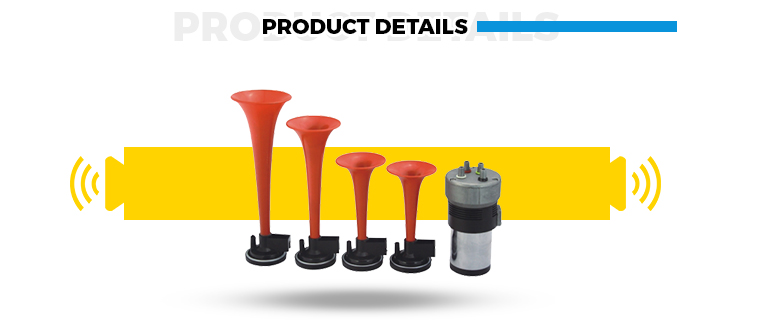 High Quality 4 Pipe Pneumatic Horn Bus Air Horn with Loudest sounds