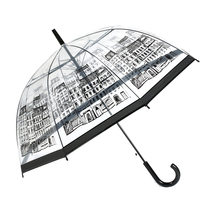 Transparent POE waterproof material fabric printing umbrella