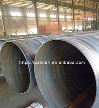 SAW Spiral Pipe pile in Water Well/Welded spiral steel pipe for Construction and water supply pipe pile
