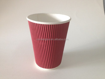 ripple wall paper cups,ripple wall coffee paper cup,10oz ripple paper cup