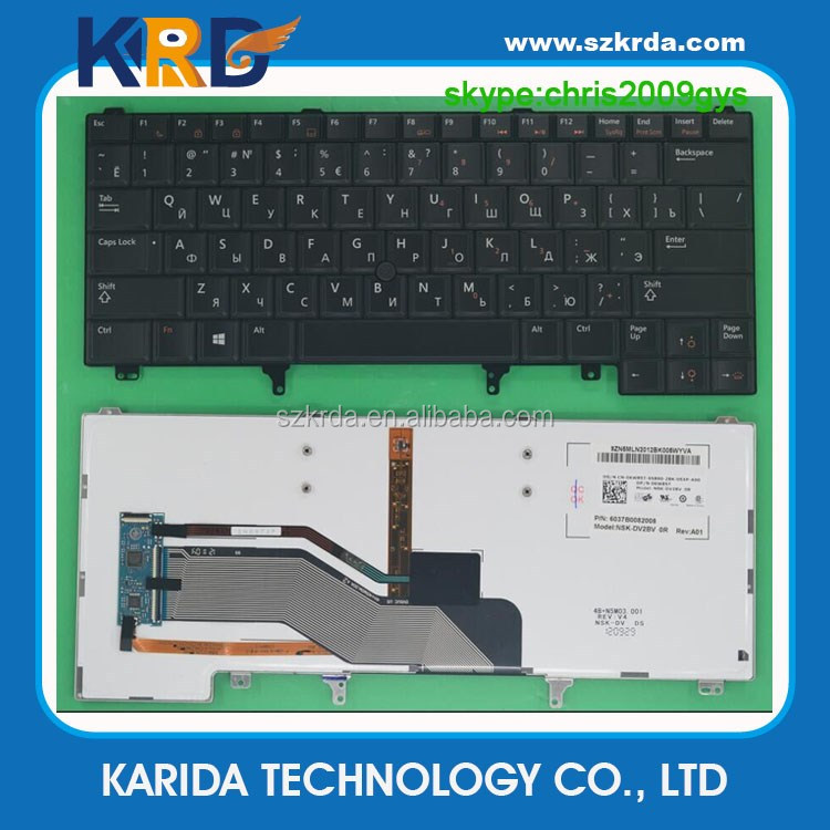 Genuine new Laptop Keyboard for Dell Latitude E6420 E6320 E5520 E5420 Keyboard with Backlit Point stick Layout RU US UK IT SP FR