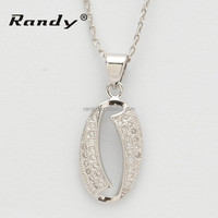 Fashion cristal jewelry/cristal necklace meaningful chunky pendant necklace
