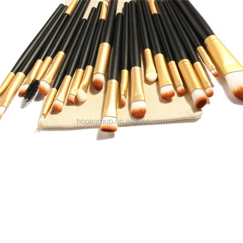 20Pcs Makeup Brushes Set Powder Foundation Eyeshadow Eyeliner Lip Brush Tool with Drawing Bag
