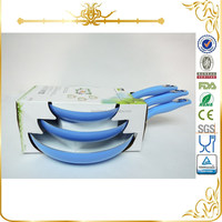 3pcs frypan set with half color box MSF-6385