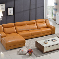 S139 Modern Stanley Leather Corner Sofa