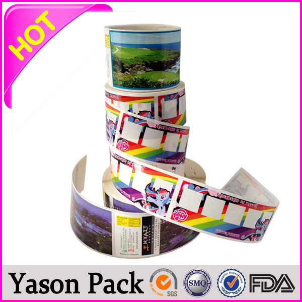 Yason plastic round sticker anti-fake wine labels/sticker adhesive dome sticker