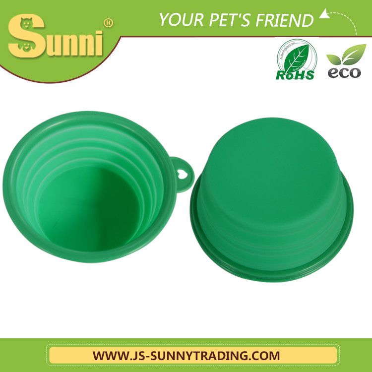 pet products travel dog bowl rubber ring