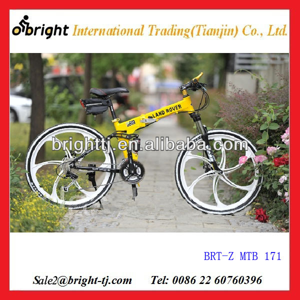2014 new connected special alloy wheel foldable mountain bike with fender