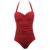 Vintage Push up Padded Bra Halter Neck Backless One piece Swimwear Dotted Swimsuit