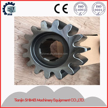 Customized gear and pinion for transmission vertical lifting