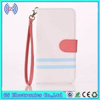 Stand With Card Holder Case For Htc Desire 700 Magnetic PU Leather Dual Color Wristlet Wallet Case For Htc Desire 700
