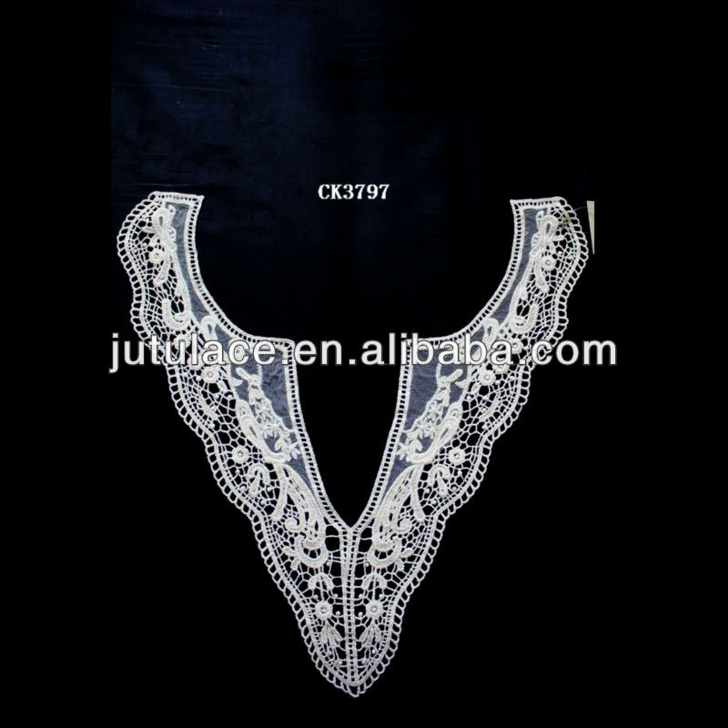 upper outer cotton embroidery lace curtain fabric CK3797