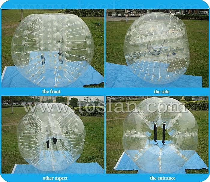 CE standard 1.0mm TPU/PVC inflatable human bubble ball football for sale TB193