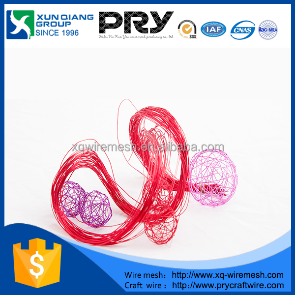 Craft PET paper covered metallic wire/artificial PET floral stem wire