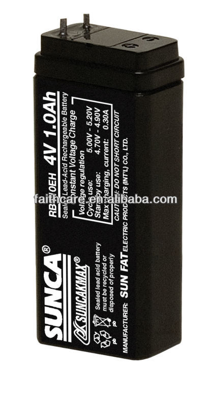 SUNCA Sealed Lead-Acid Rechargeable Battery RB410EH/4V1.0AH