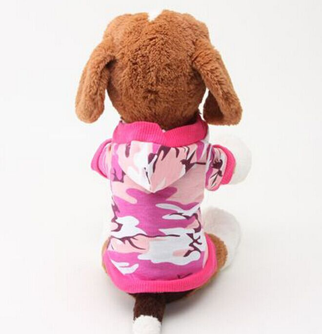 fashion camouflage green pet dog clothes full cotton dog hoodies online