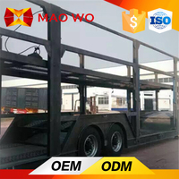 dry freight van type semi trailer/tri axle van transport semi trailer