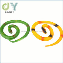 Factory directly long plastic toy rubber snake for kids gift