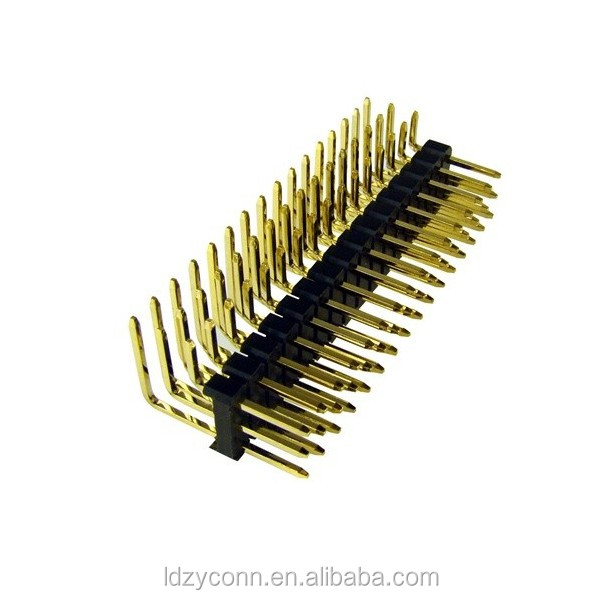 UL Approved 34 Pin 2.0mm Pitch Gold Plated Right Angle PCB Pin Header