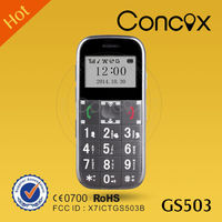Walkie talkie mobile phone gps with big button /sos alarm/FM radio Concox GS503