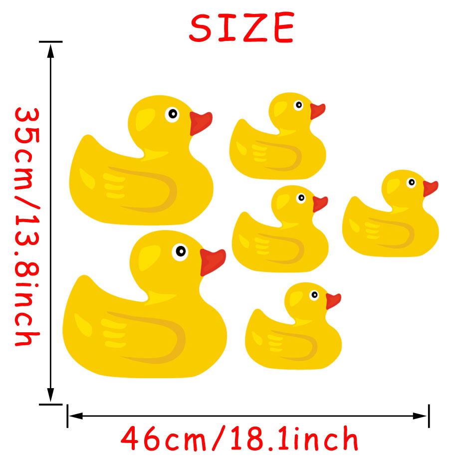 Rubber Duck Full Color Murals Bathroom Duck Wall Stickers Kids\' Room ...