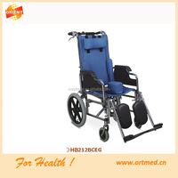 manual reclining wheelchair with Elevating footrest