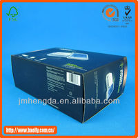 Customized fashion black packaging boxes for mobile phone accessory