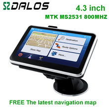 Newest 4.3inch Car GPS Navigation 4Gb FM 800MHZ WINCE 6 New 3D Map vehicle gps