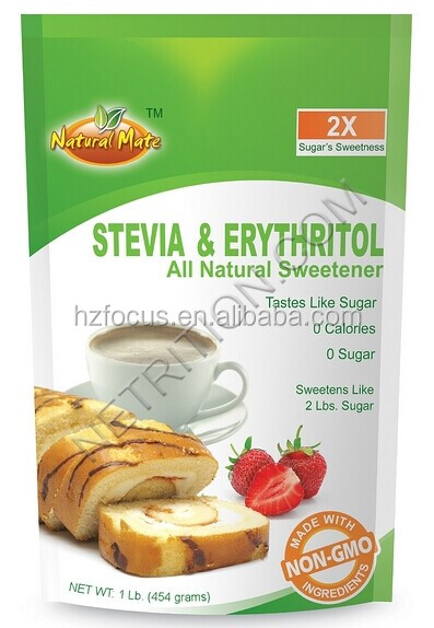 Natural mix sweetener Erythritol mix with Stevia RA98%