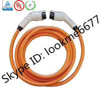 Latest Premium Coiled Mennekes EV charging cable Type 2 to Type 2 EVSE Charge Cable
