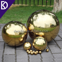 "Gold silver mirror polished 15"" 15 inch 380mm stainless steel hollow ball"