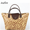 fashion lady hangbag with leopard