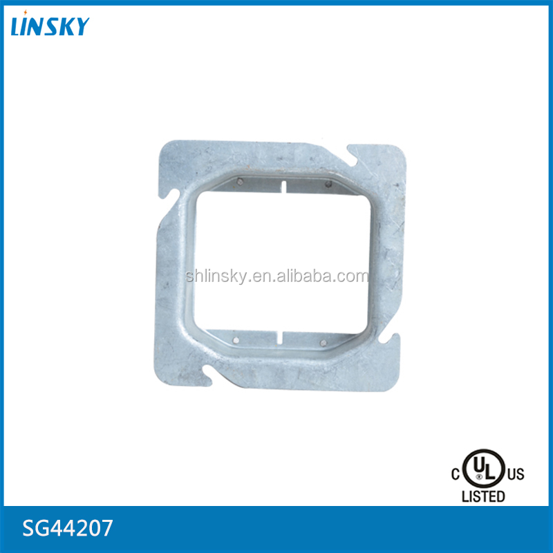 Shanghai Linsky UL listed waterproof galvanized sheet decorative electrical panel mount 12v USB socket covers